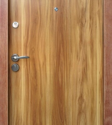 Ușă metalică stejar auriu