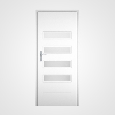 Ușă de interior albă Tetyda 2